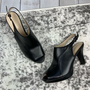 Naturalizer peep toe slingback heels